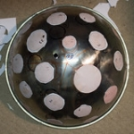 "Barbecue dome with stickers for holes • <a style=""font-size:0.8em;"" href=""http://www.flickr.com/photos/61377761@N00/32801658073/"" target=""_blank"">View on Flickr</a>"