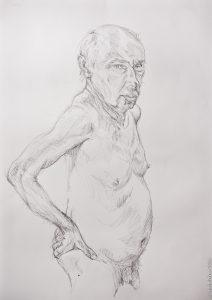 Life Drawing, OVADA warehouse, male model