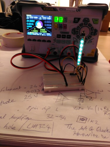 Successful test if the IVLM-1/7 with 25V and 1.4V filament voltage