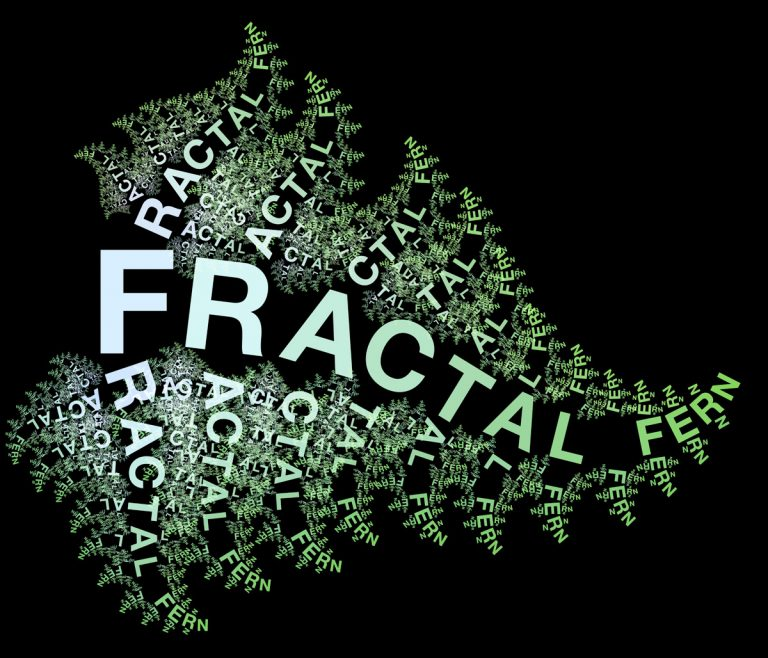 Fractal Fern typography