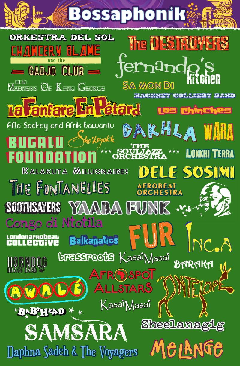 Bossaphonik-Logos