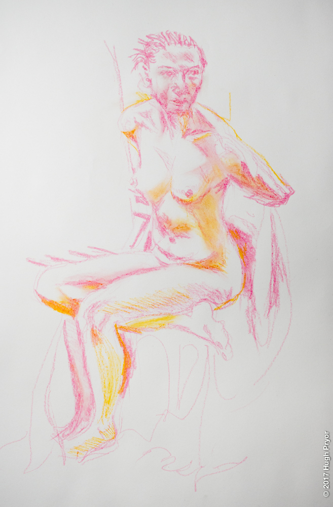Life Drawing, OVADA warehouse, female model