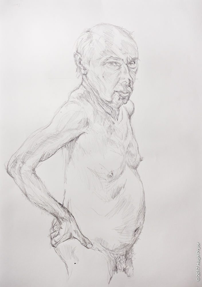 Life Drawing, OVADA warehouse, male model