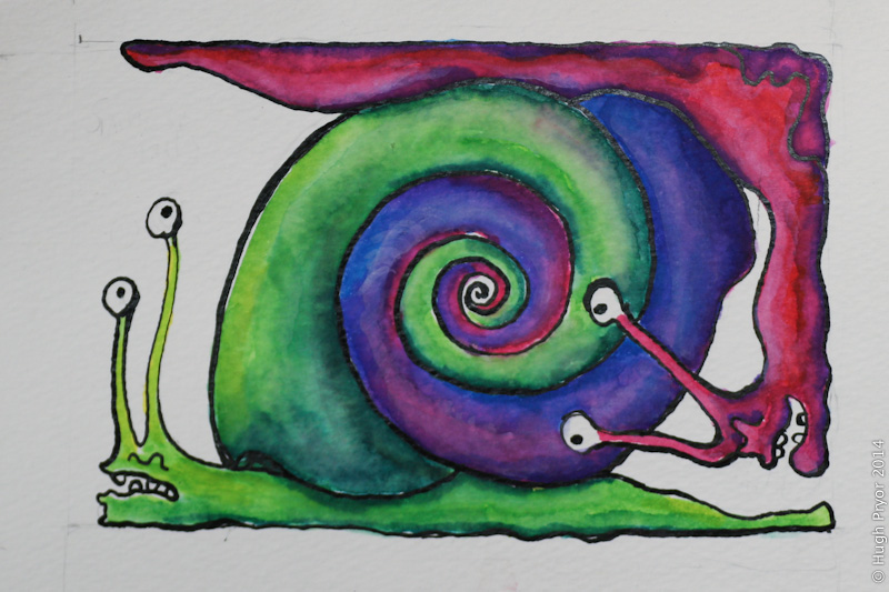 2 snails 1 shell