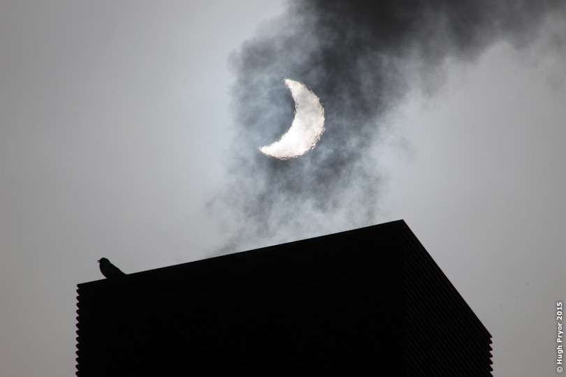 Solar eclipse through chimney